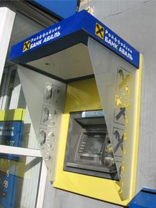 козырьки для банкомата