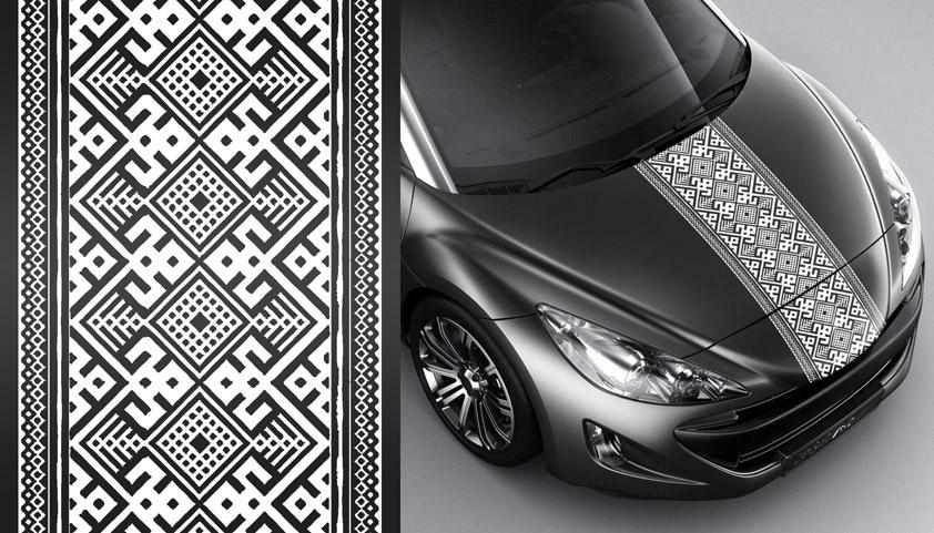 А004 – Украинский орнамент «Геометрия» черный
