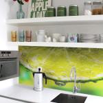 Стеклянные панели для кухонного фартука
