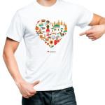 футболка украина сердце